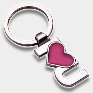 Llavero de metal, <p>Llavero de metal personalizado de I LOVE YOU</p>
