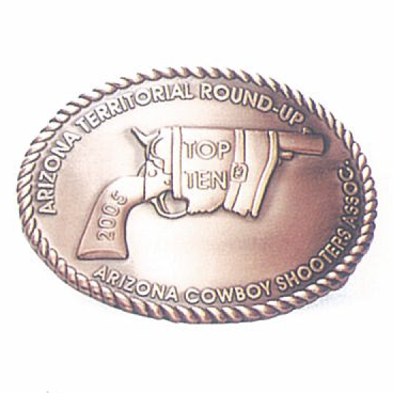 Hebilla metal, <p>Hebilla metal de Arizons territorial round-up</p>