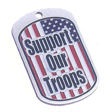 Placa identificaci�n, <p>Placa identificaci&oacute;n de metal con badera USA&nbsp;</p>