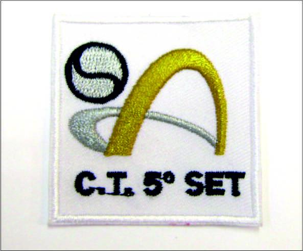 Parche Bordado, <p>Parche Bordado, Club de Voleybol CT 5&ordm; SET</p>