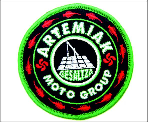 Parche Bordado, <p>Parche Bordado Artemiak MOTO GROUP</p>