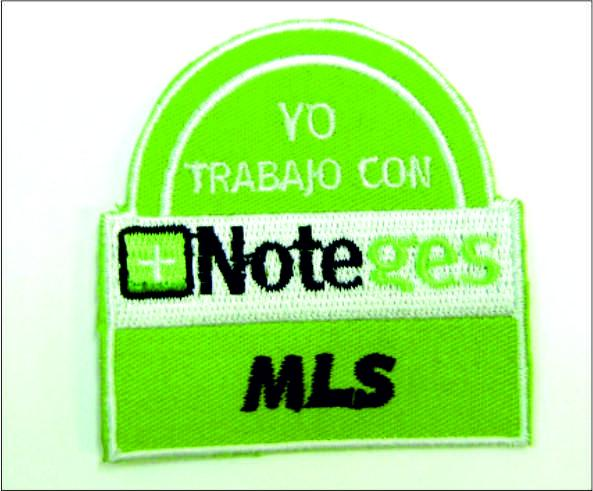 Parche Bordado, <p>Parche Bordado Yo Trabajo con Note ges MLS Color verde</p>